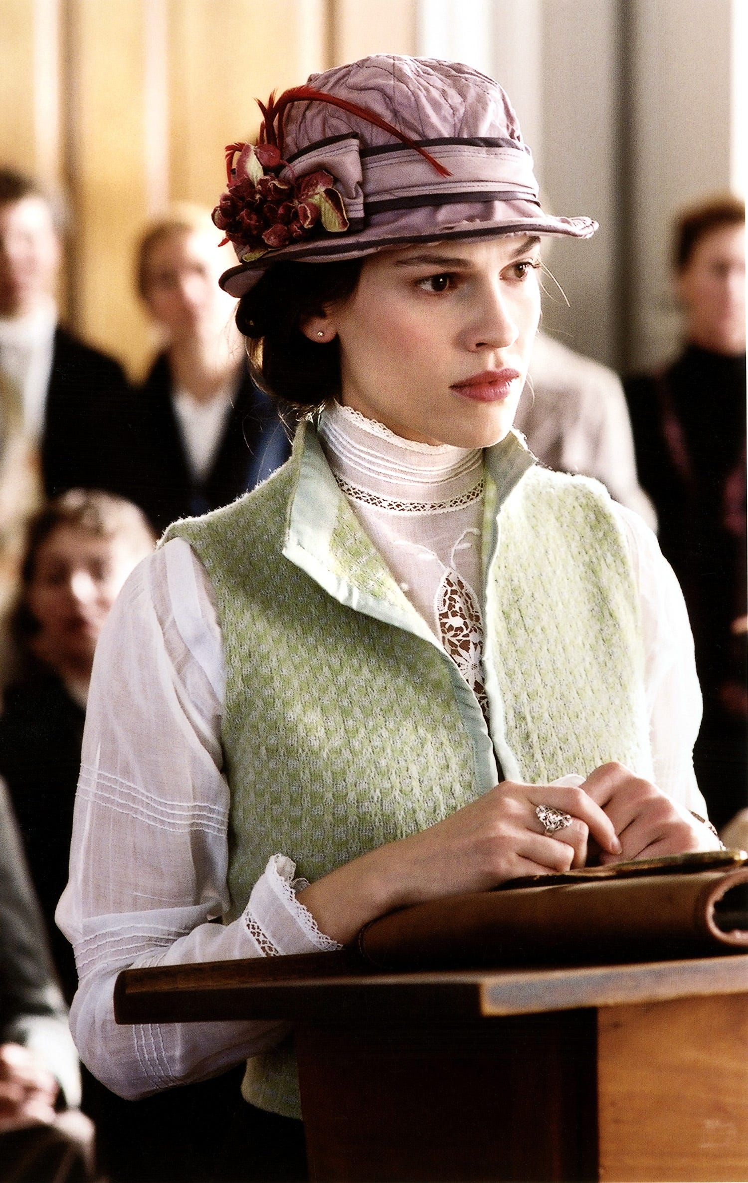 """Hilary Swank as Alice Paul in """"Iron Jawed Angels."""""""