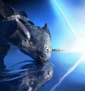 Penggambaran artis tentang Ankylosaurus magniventris, spesies dinosaurus lapis baja besar, yang terkena dampak asteroid di Semenanjung Yucatan 66 juta tahun lalu.