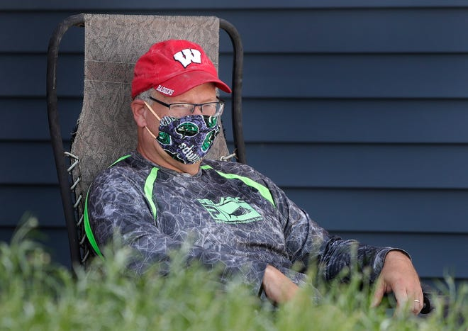 Dan Garber, 53, of Harrison, is in isolation at his home after testing positive for the coronavirus.