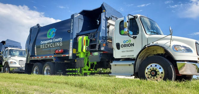 Orion Waste Solutions owns and operates new recycling trucks as part of the company's seven-year contract with Outagamie County.