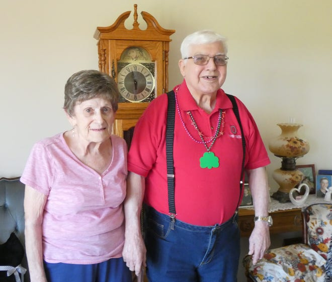 Marge and Charles Auck are celebrating their 70th wedding anniversary on July 2.