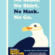 A poster promotes mask-wearing for visitors and residents in Cape May County.