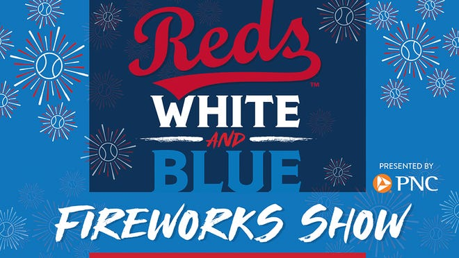 Reds White and Blue fireworks show