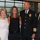From left, Cynthia Pitts, Lori Crockarell, Clarksville Police Chief David Crockarell and Mayor Joe Pitts attend the swearing-in ceremony of David Crockarell as he became the 17th chief of police in the department's history June 30, 2020, at the Wilma Rudolph Event Center.