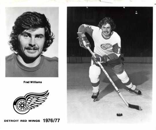 Detroit Red Wings' Fred Williams