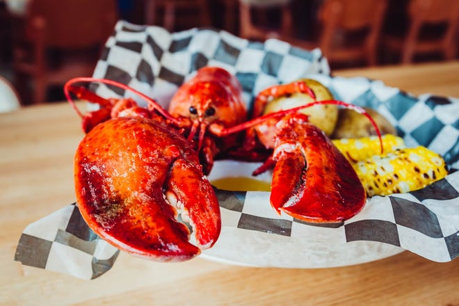 Whole lobsters are available for purchase at the Drive-Thru Pop-Up Lobster Shop.