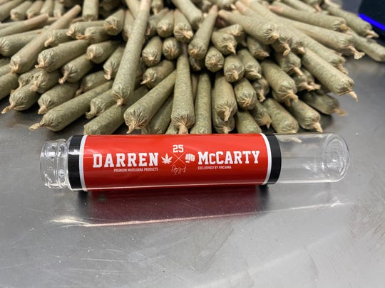 Former Detroit Red Wings player Darren McCarty has created his own brand of medical marijuana products.
