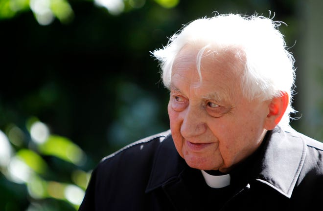 In this Thursday, Sept. 16, 2010 file photo, Georg Ratzinger attends a ceremony to hand over the keys of his house in Pentling near Regensburg, Germany.