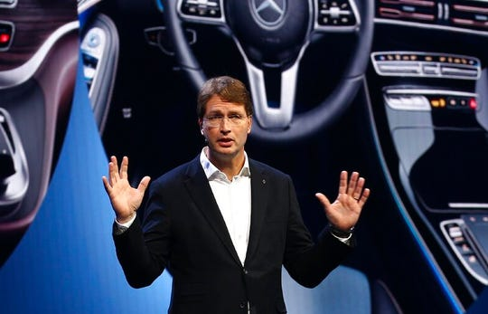 Ola Kallenius, CEO Daimler AG and Mercedes-Benz AG, talks about future innovation at the CES tech show in this Jan. 6, 2020, file photo.