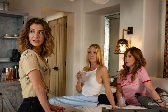 "Nasim Pedrad, Anna Camp and Sarah Burns in ""Desperados."""