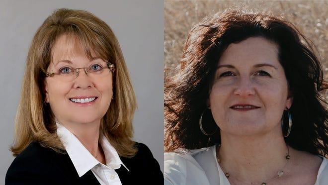 Democrat Sally Boccella (right) will face Republican Barbara Kirkmeyer (left) in November in the race for Senate District 23.
