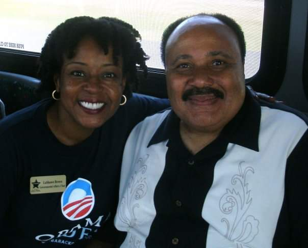 LaShawn Erby with Martin Luther King III.