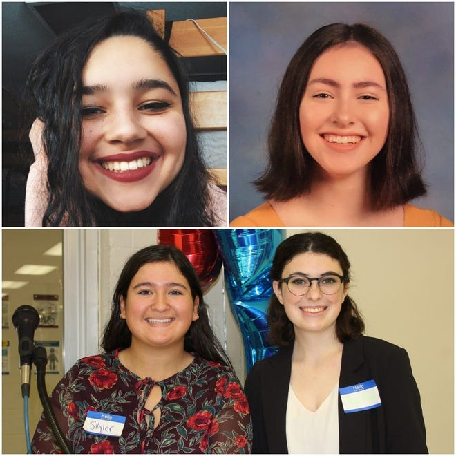 (Clockwise from top left) Homestead High School alumna Reem Salah, incoming Homestead senior Morgan Limbach and Arrowhead High School alumnae Riley Reed and Skyler Phillips have started petitions seeking to change their respective school district's curriculums to better fight racial injustice, and in one case, expel a student who posted a racist video on social media.