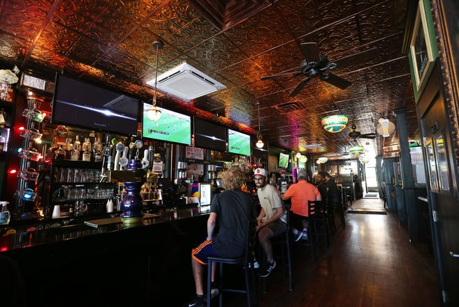 Milwaukee Brat House at 1013 North Old World 3rd St. and other bars were able to open to 50% capacity on Wednesday, July 1, 2020.