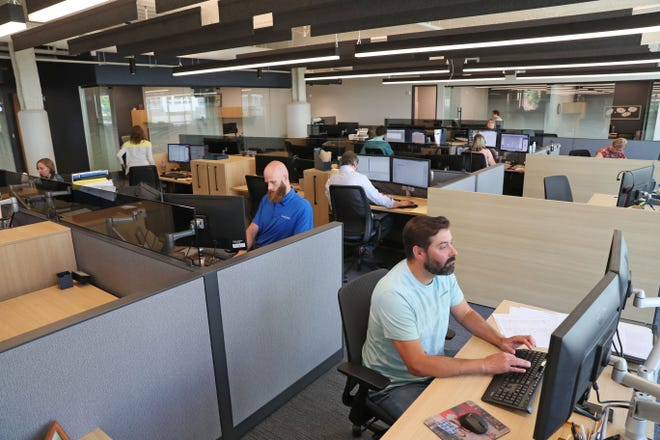 Badger Mutual Insurance Co. is among the downtown Milwaukee employers that are gradually bringing workers back to their offices.