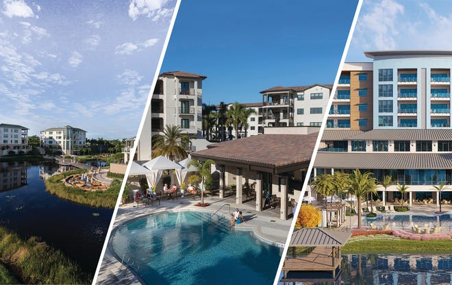 With three campuses in Naples, Moorings Park Communities consists of Moorings Park (left), Moorings Park at Grey Oaks (middle) and Moorings Park Grande Lake (right). All 3 have become synonymous with luxury living and superior healthcare.