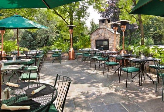 The outdoor patio of Ho Ho Kus Inn