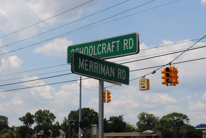 The corner of Schoolcraft and Merriman roads in Livonia.