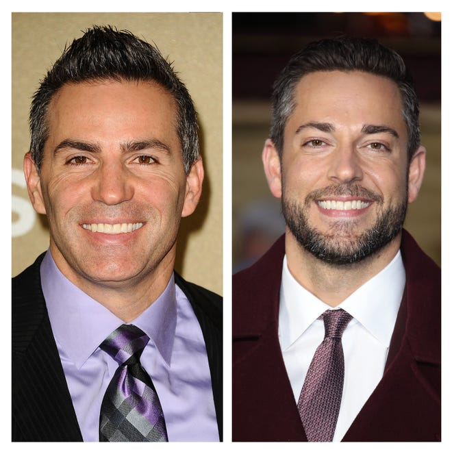 Kurt Warner (left) and Zachary Levi. Levi will play former Arizona Cardinal quarterback and NFL Hall of Famer Warner in the upcoming 'American Underdog: The Kurt Warner Story.'
