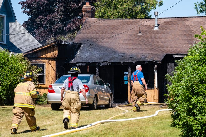 Rescue crews responded to a structure Wednesday, July 1, 2020, on Lakeshore Road in Fort Gratiot. There were no injuries but the home was a total loss, according to Fort Gratiot Fire Capt. Bill Shagena.
