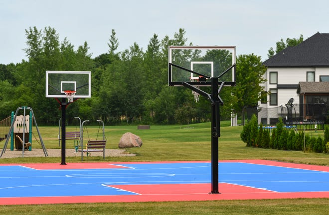 The basketball court at The Wilds park is pictured Wednesday, July 1, 2020, in Sartell.