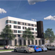 An initial rendering of a proposed homeless shelter and supportive housing units shows a five-story building slated for downtown Oxnard.