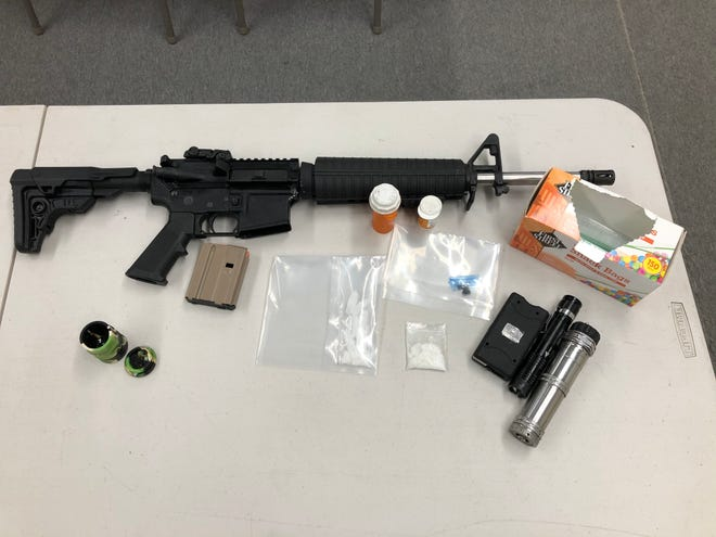 Visalia police seized weapons and drugs from a home in the 3000 block of Tulare Avenue on Wednesday, June 30, 2020.