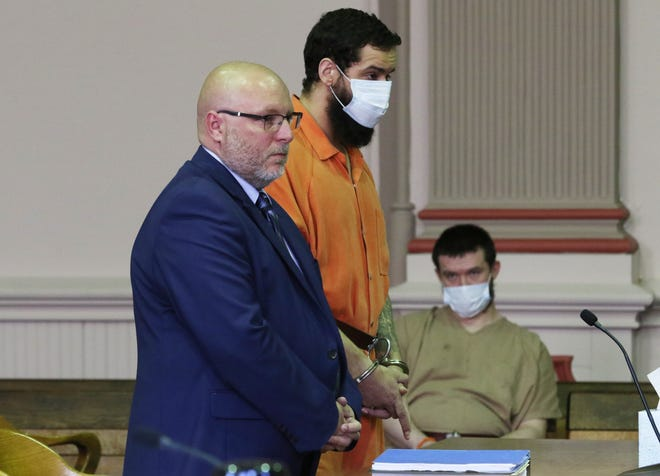 Jonathan Mitchell and his attorney Keith Edwards appeared in Muskingum County Common Pleas Court this week where he pleaded guilty to three counts of aggravated arson.  He was sentenced to 14 years in prison.