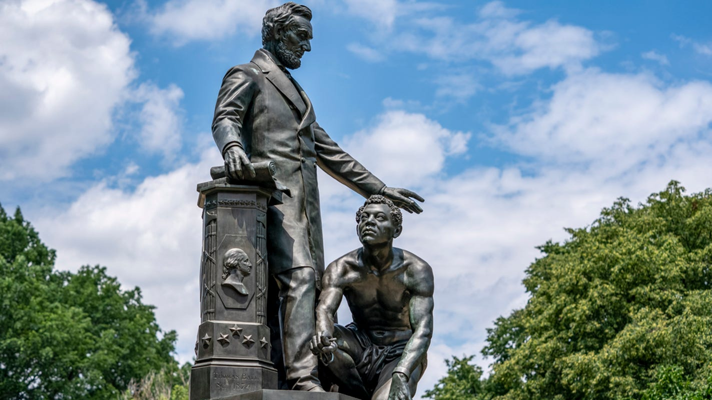 Lincoln deserves statues but the Emancipation Memorial misleads on him and Black history