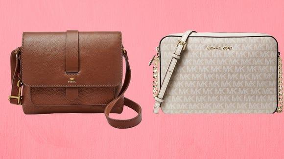 Designer bags galore.