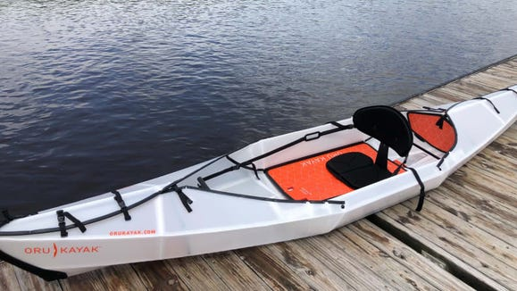 Made of a single sheet of correlated plastic, the Oru Kayak folds like origami.