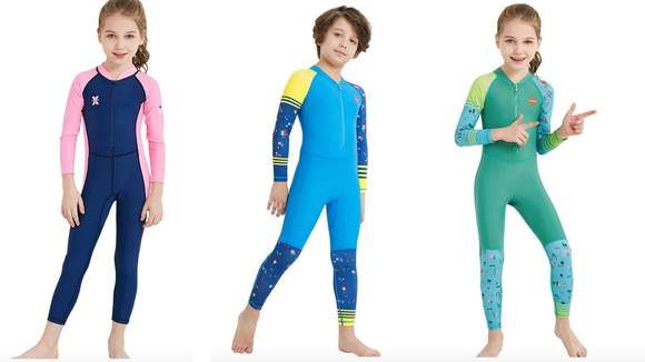 These full-body suits are great for kids who hate sunscreen.