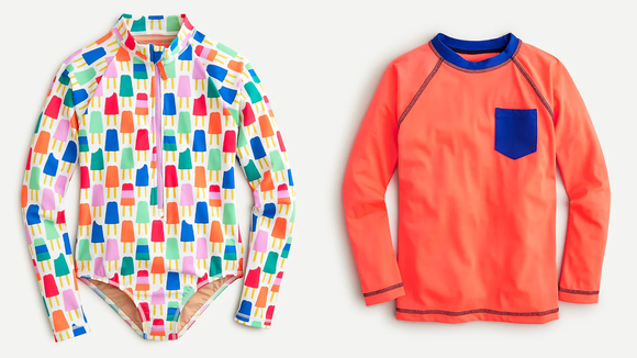 J.Crew has a great selection of long-sleeved swimsuits for kids.