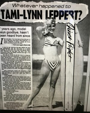 This photo and article appeared in FLORIDA TODAY in 1990, seven years after model Tami-Lynn Leppert went missing.