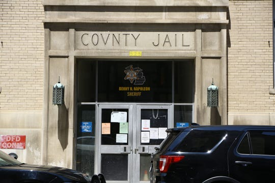 The Old Wayne County Jail in Detroit at the corner of Clinton Street and Beaubien Street.
