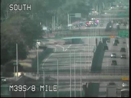Police blocked off the Southfield Freeway at Eight Mile after a shooting last week.