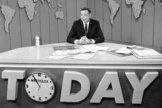 """In this March 10, 1966 file photo, Hugh Downs hosts the """"Today""""show on NBC."""