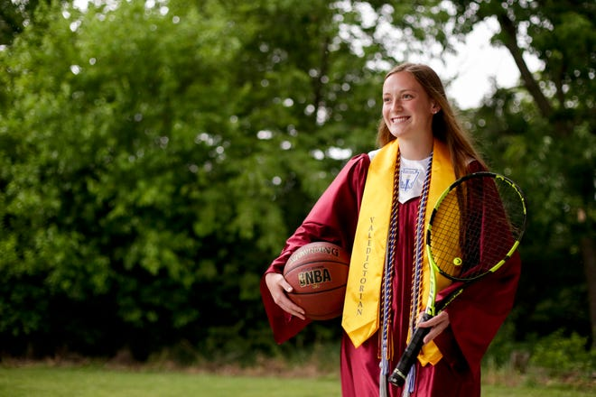 McCutcheon's Bailey Burton is the 2020 Journal & Courier female student-athlete of the year.
