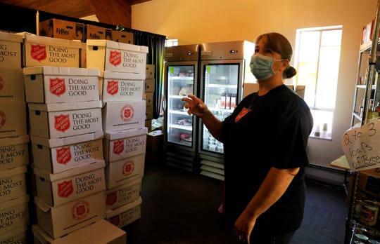 "Angela Romine, the office manager for the Salvation Army in Fairfield County, describes how the organization adapted to the challenges posed by the coronavirus pandemic. The food bank shifted from a ""shopping"" model to a pre-boxed one, but Romine said she's ready to return to the shopping model when regulations permit it. The Salvation Army distributed more than 20,000 meals since March, nearly half of its typical yearly amount."