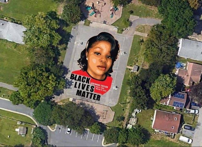 Breonna Taylor ground mural