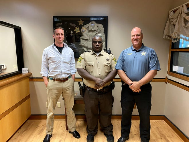 Left to right: John Smith, Deputy Kenny West and Sheriff Tony Skinner Founders of Second Chance Dads, Kenny West and John Smith, are looking to expand their program, which works to end generational crime and reduce recidivism.