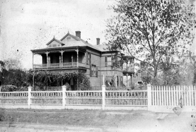 The magnificent Union Street House constructed by C. D. Stewart in Opelousas during the 1890s.
