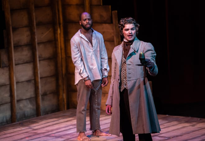 "The University of Wisconsin-Oshkosh's production of ""Nat Turner in Jerusalem,"" pictured here from a dress rehearsal in October, recently won two awards from the Kennedy Center."