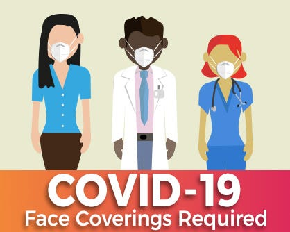 Una cubierta facial se considera cualquier tipo de tela que pueda cubrir con seguridad la nariz y boca.
