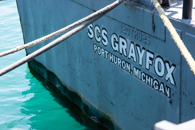 A fuel leak reported near the United States Naval Sea CadetShip Grayfox this afternoon in the Black River isunder investigation.