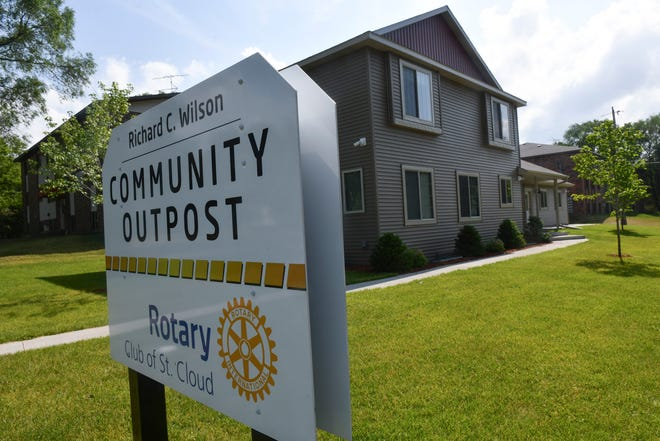 The St. Cloud Rotary Richard C. Wilson Community OutPost is pictured Tuesday, June 30, 2020, at 600-13th St. S in St. Cloud.