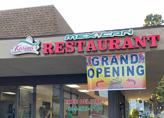 Karina's Mexican Restaurant opened June 20 at what previously was California Slice Pizzeriain Ventura.
