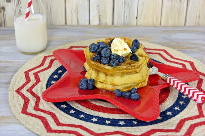 This Independence Day, patriotic waffles can make for a great breakfast, side dish or dessert at your barbecue.