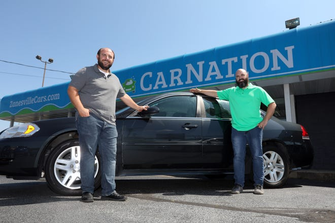 Zak, right and David Wagner own and operate Car Nation on Maple Avenue in Zanesville. The two brothers started the car dealership in 2013.