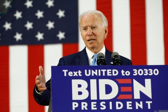 Democratic presidential candidate Joe Biden says he plans to personally interview candidates for the vice presidency.